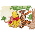 Winnie Pooh and Tiger talking