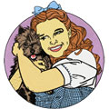 Dorothy and Toto embroidery design