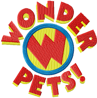 Wonder Pets Logo machine embroidery design